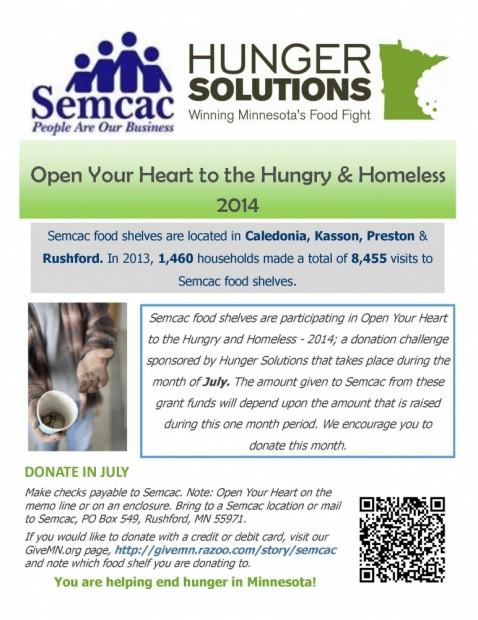 Open Your Heart flyer 2014