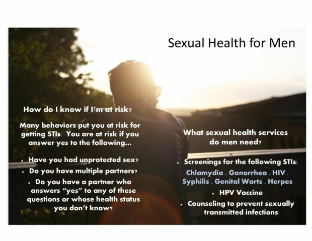 Sexual Health for Men web pic 2015