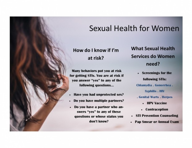 Sexual Health for Women web pic 2015