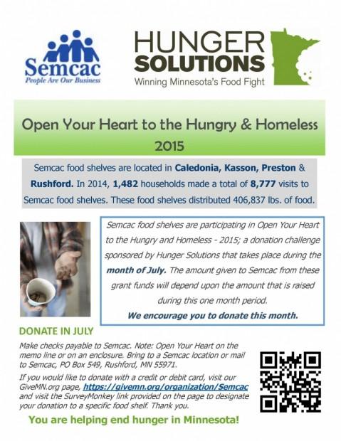 Open Your Heart Food Shelf Challenge