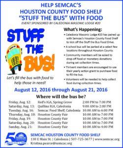 Flyer Semcac_Stuff Bus Event Houston Cty August 2016