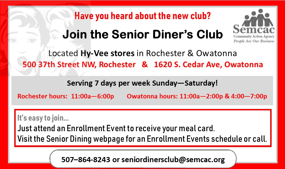 WP Cycle Senior Dine Club promo 2019